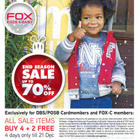 Fox Kids & Baby End Season Sale 18 Dec 2014