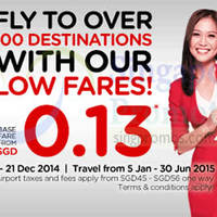 Read more about Air Asia From $0.13 (Base Fare) Promo Fares 15 - 21 Dec 2014