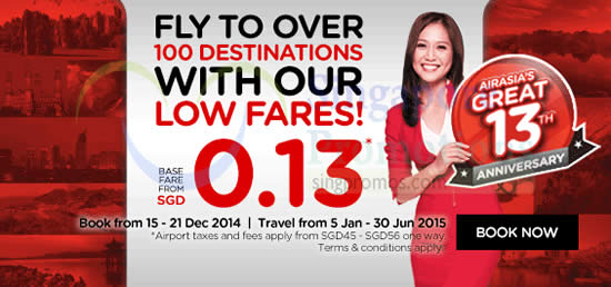 From 0.13 Cents To Over 100 Destinations
