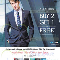 Read more about G2000 Shirts Buy 2 & Get 1 FREE 5 Dec 2014