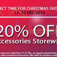 Read more about GadgetWorld 20% Off Accessories Storewide Promo 17 - 31 Dec 2014