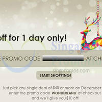 Groupon $10 OFF 1-Day Coupon Code 18 Dec 2014