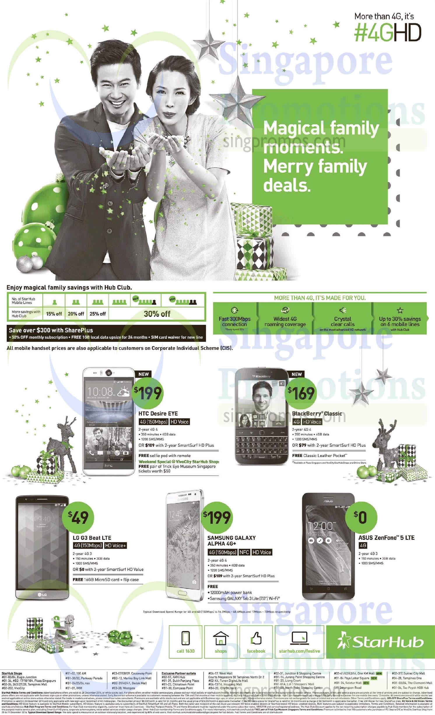 HTC Desire Eye, Blackberry Classic, LG G3 Beat, Samsung Galaxy Alpha, Asus Zenfone 5