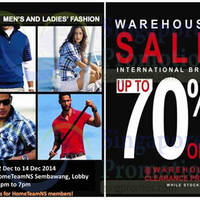 Read more about HomeTeamNS Branded Fashion Warehouse Sale @ Sembawang 12 - 14 Dec 2014