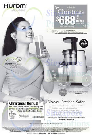 Hurom Slow Juicer Ck Tang : Facial At vivocity (Dec 2017) SINGPromos.com