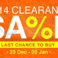 Read more about Lazada Clearance Sale 23 Dec 2014 - 5 Jan 2015