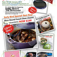 Le Creuset Festive Specials Offers @ Isetan Scotts & Katong 18 Dec 2014 - 5 Jan 2015
