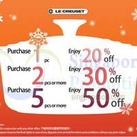Read more about Le Creuset Up To 50% Off Promo 9 - 31 Dec 2014
