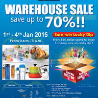 Lock & Lock Warehouse SALE 1 - 4 Jan 2015
