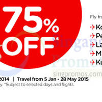 Read more about Air Asia 75% Off Promo Air Fares 1 - 7 Dec 2014