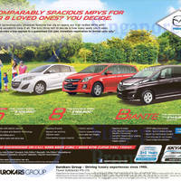 Read more about Mazda 8, Mazda 5 & Mazda Biante MPVs Offers 6 Dec 2014