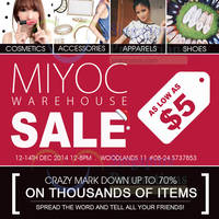 Read more about Miyoc Up To 70% OFF Warehouse SALE 12 - 14 Dec 2014