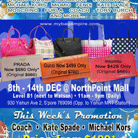 Read more about MyBagEmpire Branded Handbags & Accessories Sale @ NorthPoint 8 - 14 Dec 2014