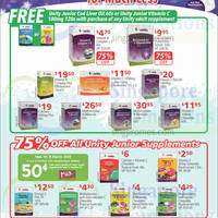 NTUC Unity 75% Off Junior Supplements & Adult Supplements Promo 19 - 25 Dec 2014