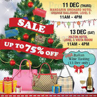 Read more about Nimeshop Branded Handbags Sale @ Hilton Hotel 13 Dec 2014
