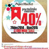 Read more about Papermarket Pre-Stocktake Clearance 26 Dec 2014 - 9 Jan 2015