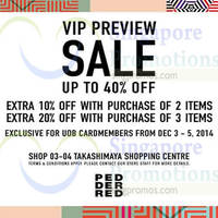 Read more about Pedder Red Preview Sale For UOB Cardmembers 3 - 5 Dec 2014