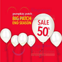 Pumpkin Patch End-Season Sale 18 Dec 2014