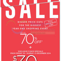 Read more about Robinsons Spend $250 & Get $30 Off 3-Day Promo 19 - 21 Dec 2014