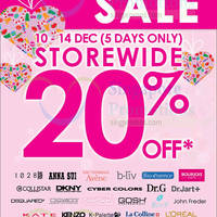 Read more about SaSa 20% Off Storewide Promo 9 - 14 Dec 2014