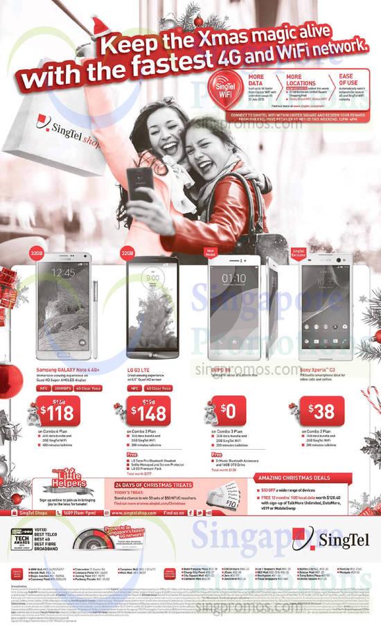 Samsung Galaxy Note 4, LG G3, Oppo R5, Sony Xperia C3