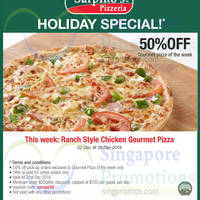Read more about Sarpino's Pizzeria 50% Off Ranch Style Chicken Gourmet Pizza 22 - 28 Dec 2014