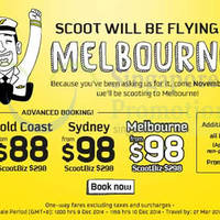 Read more about Scoot From $48 Melbourne & Other Australia Destinations Promo Air Fares 9 - 10 Dec 2014