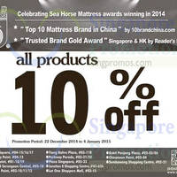 Sea Horse 10% OFF Storewide Promo 22 Dec 2014 - 4 Jan 2015