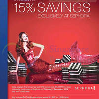 Read more about Sephora 15% Savings 1-Day Promo For UOB Cardmember 4 Dec 2014