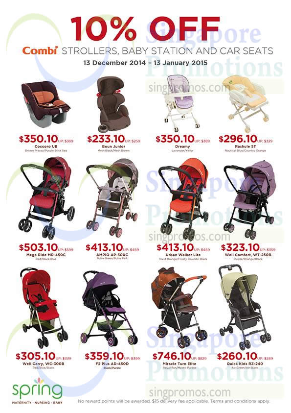 Combi Baby Products 10% Off @ Spring Maternity & Baby 13 Dec 2014 ...