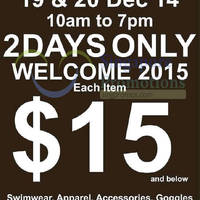 TYR Year End Sale @ Kewalram House 19 - 20 Dec 2014