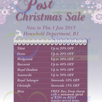Read more about Takashimaya Household Post Christmas Sale 26 Dec 2014 - 1 Jan 2015