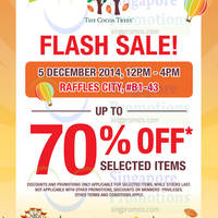 Read more about The Cocoa Trees 4hr Flash Sale @ Raffles City 5 Dec 2014