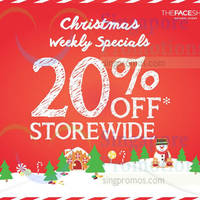 The Face Shop 20% Off Storewide 22 - 28 Dec 2014