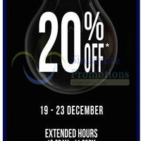 The Planet Traveller 20% Off Black Items @ ION Orchard 19 - 23 Dec 2014