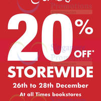 Read more about Times Bookstores SALE 26 - 28 Dec 2014