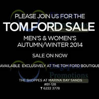 Read more about Tom Ford Sale 16 Dec 2014