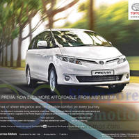 Read more about Toyota Previa Price & Features 13 Dec 2014