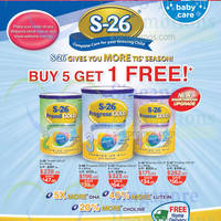 Read more about S-26 Milk Powders Buy 5 Get 1 Free @ Watsons 4 - 31 Dec 2014