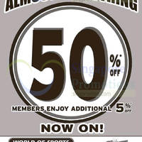 Read more about World of Sports 50% Off Almost Everything New Year Sale 30 Dec 2014 - 4 Jan 2015