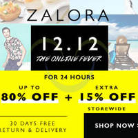 Read more about Zalora 15% OFF Storewide (NO Min Spend) 24hr Coupon Code 12 Dec 2014