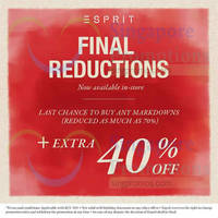 Read more about Esprit Up To 70% OFF Markdowns (Final Reductions!) 10 Jan 2015