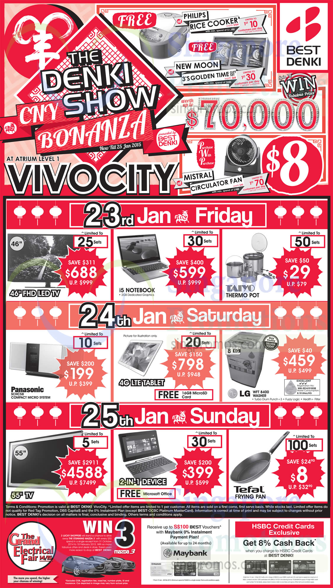 23 Jan Friday, Saturday, Sunday Special Promotions