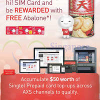 Singtel hi! Card Top-up Via AXS & Get Free Abalone Promotion 13 Jan - 13 Mar 2015