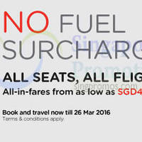 Air Asia From $40 (all-in) No Fuel Surcharge Promo Fares 26 Jan - 1 Feb 2015