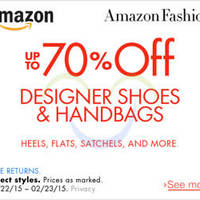 Read more about Amazon Up To 70% OFF Designer Shoes & Bags Promo 30 Jan - 24 Feb 2015