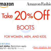 Read more about Amazon.com 20% OFF Boots Coupon Code 3 - 16 Jan 2015