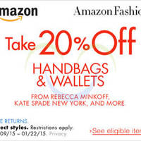 Read more about Amazon.com 20% OFF Handbags & Wallets (NO Min Spend) Coupon Code 14 - 23 Jan 2015