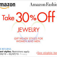 Read more about Amazon.com 30% OFF Jewellery Coupon Code (NO Min Spend) 30 Jan - 8 Feb 2015