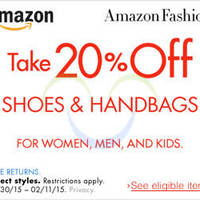 Read more about Amazon.com 20% OFF Shoes & Handbags Coupon Code (NO Min Spend) 30 Jan - 11 Feb 2015
